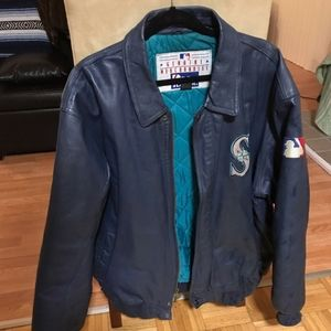 Authentic Seattle Mariner Pro Player Leather Coat